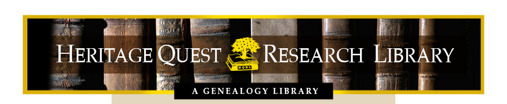Welcome to the Heritage Quest Research Library web site